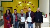 我校与西江电梯签订协议