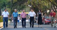 广东劳动学会、广东省人力资源管理协会张凤岐会长、陈俊传秘书长走访我校